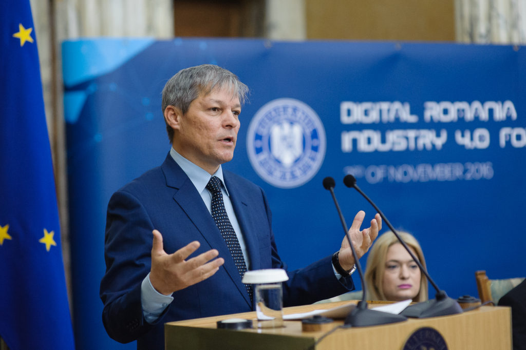 Dacian Cioloș participă la deschiderea Digital Romania International Forum II - Startups in 4.0 Industries